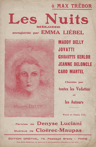 E. Cloerec-Maupas | Emma Liebel | Les Nuits | Chanson