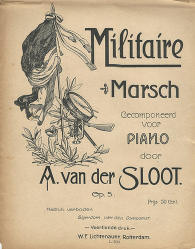 A. van der Sloot | Militaire Marsch | Piano
