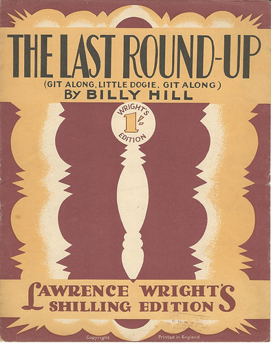 Billy Hill | The last round-up | Piano | Vocals
