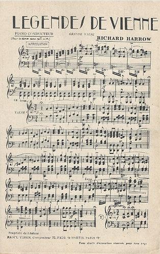 Richard Harrow  | Legendes de Vienne | Piano