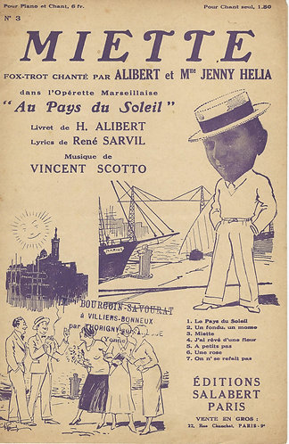 Vincent Scotto | Alibert | Miette | Chanson