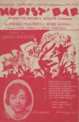 Robert Katscher | Henri Varna | La Blonde Elisabeth | Chanson