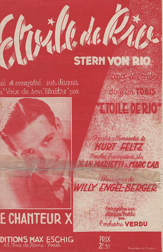 Willy Engel-Berger | Kurt Feltz | Etoile de Rio | Stern von Rio | Chanson