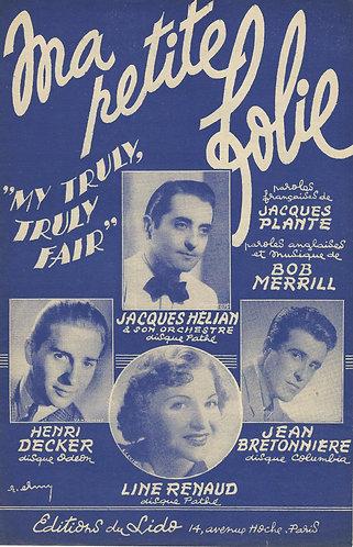 Jacques Helian   Line Renaud   Bob Merrill   Ma petite folie   Vocals