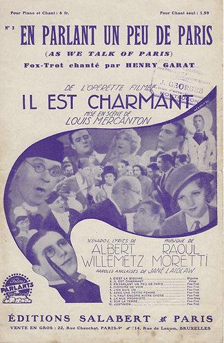 Henry Garat | Raoul Moretti | En parlant un peu de Paris | Chanson