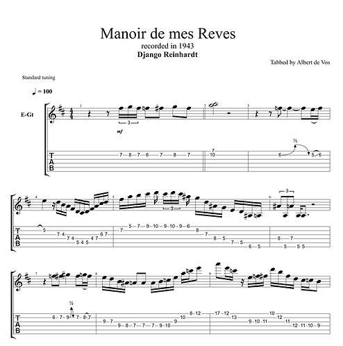 Django Reinhardt | Manoir de mes Reves | Guitar Manouche