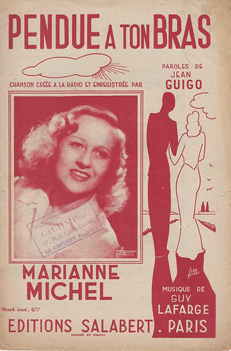 Marianne Michel   Guy Lafarge   Pendue a ton Bras   Chanso
