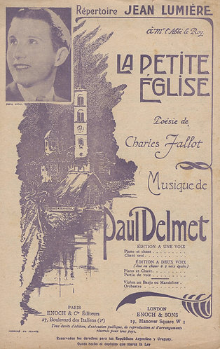 Paul Delmet | La Petite Eglise | Chanson