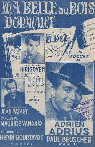Jean Patart | Henri Bourtayre | Michel Emer | Ma Belle au Bois Dormant