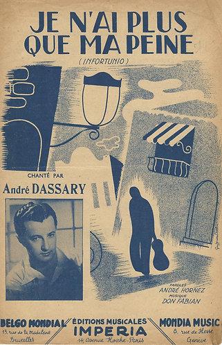 Andre Dassary | Don Fabian | Je n'ai plus que ma peine | Vocals