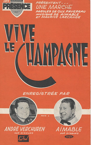 Aimable | Maurice Larcange | Vive le Champagne | Accordeon | Vocals
