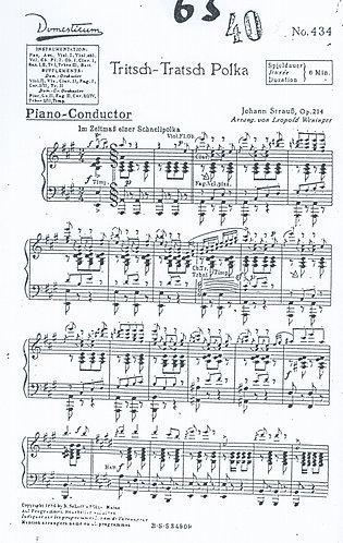 Johann Strauss   Trisch Trasch Polka   Piano