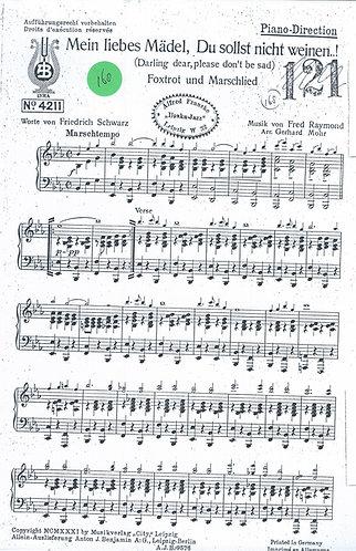 Fred Raymond | Mein liebes Madel, Du solst niecht weine | Piano| Small Orchestra