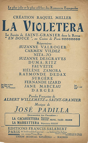 Jose Padilla | Carmen Vildez | Nita Jo | La Violetera | Vocals