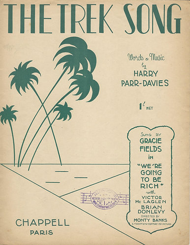 Harry Parr Davies | Grace Fields | The Trek Song | Piano | Vocals