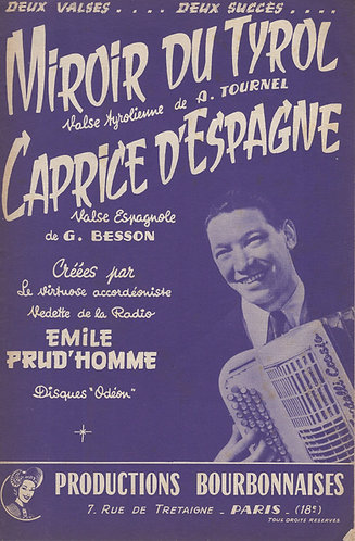 G. Besson | Emile Prud'homme | Caprice d'Espagne | Piano | Accordion