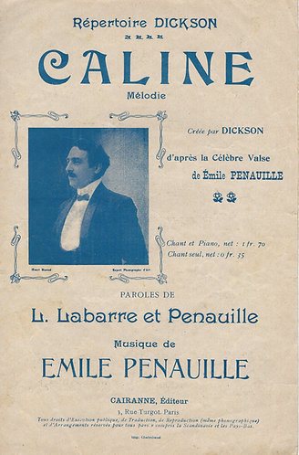 Emile Penauille   L. Labarre   Caline   Chanson