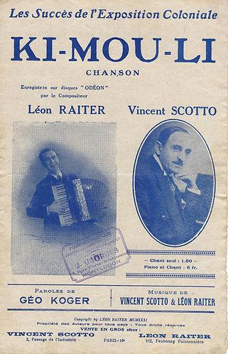 Vincent Scotto | Leon Raiter | Ki Mou Li | Chanson