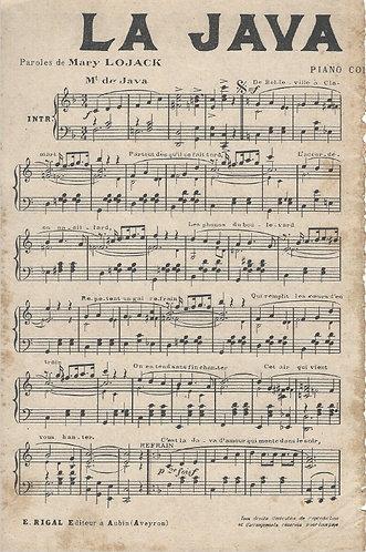 M. Rigal |  La Java de Amour | Piano