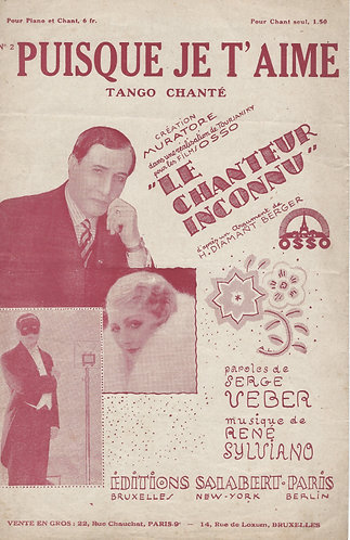 Rene Sylviano   Puisque je t'aime   Chanson