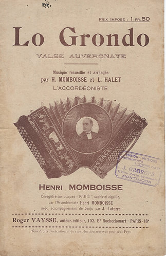 Henri Momboisse | Laurant Halet | Lo Grondo | Piano | Accordion