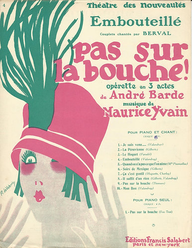 Maurice Yvain | Andre Barde | Embouteille | Piano | Vocals