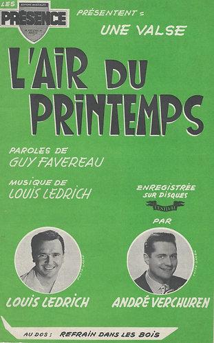 Louis Ledrich | Andre Verchuren  | L'air du printemps | Piano | Accordeon