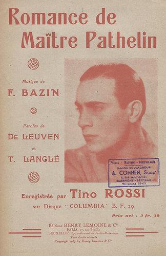 Tino Rossi | F. Bazin | Romance de Maitre Pathelin | Chanson