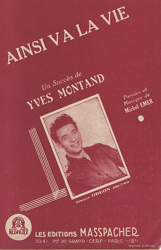 Yves Montand | Michel Emer | Ainsi va la vie | Chanson