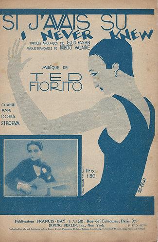 Dora Stroeva | Ted Fiorito | Si J'avais Su | Chanson