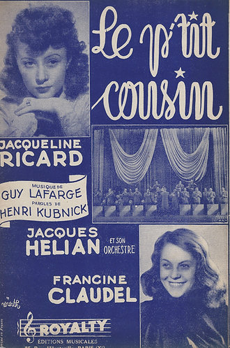 Jacqueline Ricard | Guy Lafarge | Le p'tit cousin | Chanson