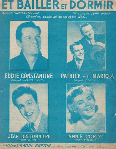 Eddie Constantine   Jeff Davis   Et Bailler et Dormir   Chanson