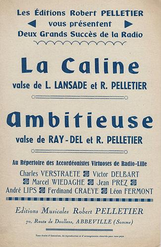 Lucien Lansade | Robert Pelletier | La Caline | Piano | Accordion