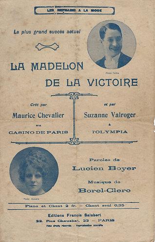 Maurice Chevalier   C. Borel-Clerc   La Madelon de la Victoire   Chanson