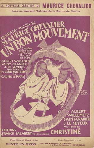 Maurice Chevalier | Henri Christiné | Un bon mouvement | Vocals