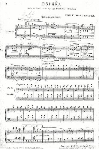 Emile Waldteufel | Emmanuel Charrier | Espana | Piano