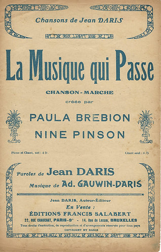 Ad. Gauwin | Jean Daris | La Musique qui Passe | Vocals