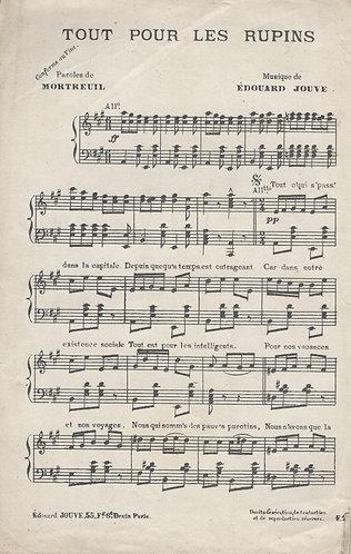 Edouard Jouve | Mortreuil | Tout Pour Les Rupins | Piano | Vocals