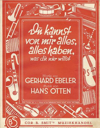 Hans Otten | Du kannst von mir alles haben | Piano | Vocals