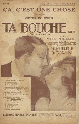 Victor Boucher | Maurice Yvain | Ca, c'est une chose | Vocals