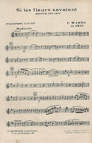 F. Warms | Aris | Si les fleurs savaient | Orchestra