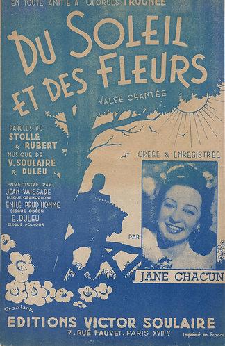 Jane Chacun | Jean Vaissade | Emile Prud'homme | Duleu | Du Soleil et des Fleurs