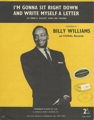 Fred E. Ahlert | Billy Willams | I'm gonne sit right down and write myself