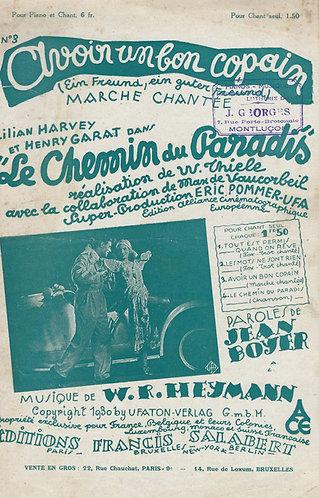 W.R. Heymann | Avoir un bon copain | Chanson