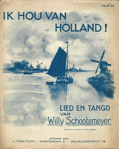 Willy Schootemeyer | Ik hou van Holland | Piano | Vocals