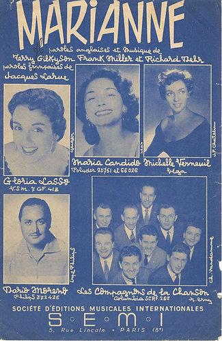 Les Compagnons de la Chanson | Terry Gilkyson | Maria Candido |Marianne | Vocals