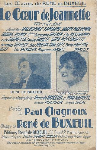 Rene de Buxeuil   Le Coeur de Jeannette    Chanson