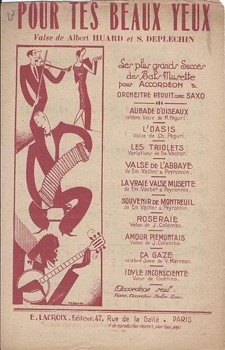 Albert Huard | S. Deplechin | Pour Tes Beaux Yeux | Piano | Accordion