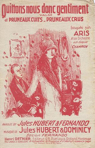 Aris | Jules Hubert | Pruneaux Cuits, Pruneaux Crus | Chanson