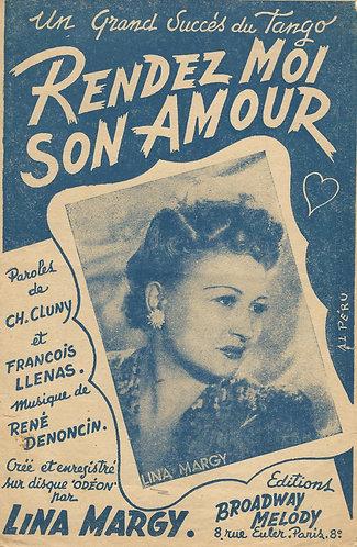 Lina Margy | Rene Denoncin | Rendez Moi Son Amour | Vocals